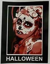 Halloween Postcard Sugar Skull Zombie Undead OI Occasion Invasion Post Card