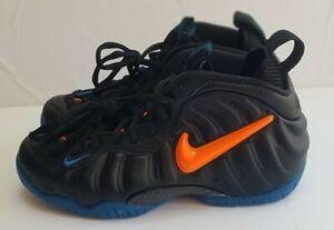 Nike Air Foamposite Pro Knicks Black Orange Blue 624041 010 Men's Size 9.5