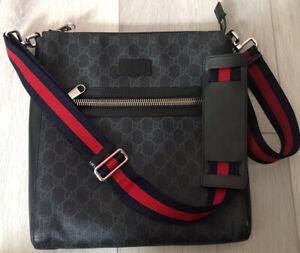 Gucci GG Black Messenger Bag - Used