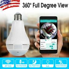 1080P 360° Panoramic Hidden Wifi IP Camera Light Bulb Home Security Lamp Cam