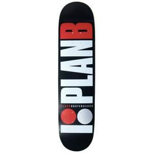 "Plan B Team Red Skateboard Deck Black 8"""