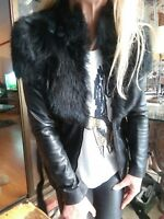 "Sass & Bide ""The Riders Way"" Shearling Fur Leather Coat/Jacket sz 36 rrp $1400"