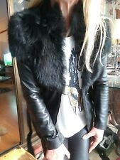 "Sass & Bide ""The Riders Way"" Shearling Fur Leather Coat/Jacket sz 36 rrp $1400"