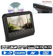 "9"" Car Headrest DVD Player LCD Digital Monitor HDMI USB SD IR Remote Universal"