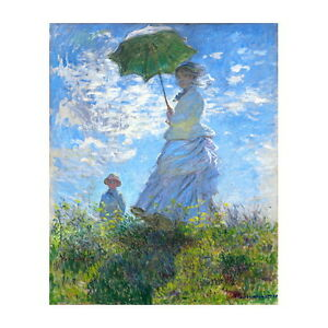 Claude Monet, Woman with a Parasol Deco FRIDGE MAGNET, 1875 Stroll La Promenade