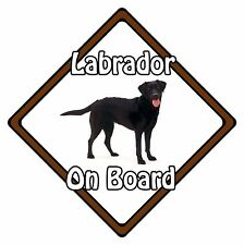 Non Personalised Dog On Board Car Safety Sign - Labrador On Board