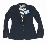 Banana Republic Womens Size 8 Black Cotton Blend Jacket (Regular)