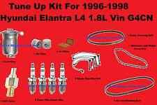 Tune Up Kit for 1996-1998 Hyundai Elantra Spark Plug Wire Set Engine Filter belt