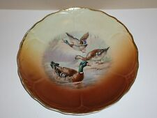 Vintage Hand Painted Plate, Ducks, Signed