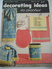 1956 Decorating Ideas to Crochet #323 Pattern Book Guest Towels Rugs Pot Holders