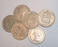 Great Britain/UK 1953 - 1967 - Elizabeth II Cupro-Nickel Half Crown -Select Date