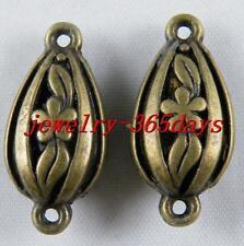 30pcs Bronze Color Jewelry Connectors 25x12x8mm 1721-2