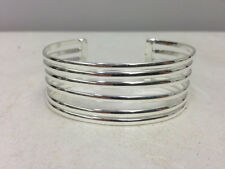 Silver Cuff Plated Five Band Bracelet Mexican Silver Cuff