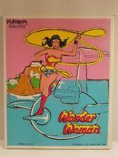 Vintage 1976 Playskool 16 Piece Wonder Woman Tray Puzzle DC Comics