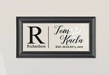 Personalized Family Name Picture Frame Sign Plaque 11x21 Richardson