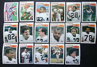 1987 Topps Cleveland Browns Team Set of 17 Football Cards