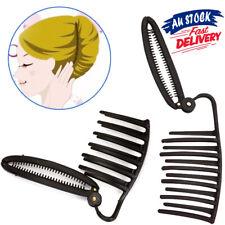 Women Bun Boost French Hair Styling Clip Maker Fast Volume Updo Twist DIY Comb