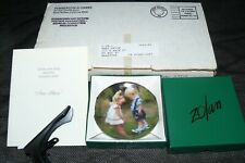 "Donald Zolan New Shoes Special Issue 3.25"" Mini Miniature Collector Plate Mib"