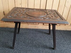 Antique Carved Ouroboros Serpent Arts and Crafts Occasional / Coffee /Side Table