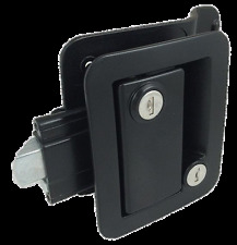 Black RV Entry Door Lock  w / deadbolt Camper Travel Trailer NEW