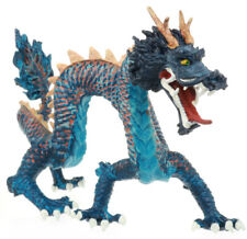 "Plastoy Blue Horned Emperor DRAGON 7"" Figure Figurine Chinese Oriental Safari"