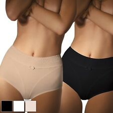 Womens Underwear High Waist Brief Flower Pattern Knickers Lace Panties UK 8-16