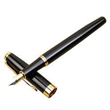 BAOER Classic 388 Penna di fontana in acciaio inox Golden Trim M Nib X6G7