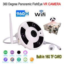 Wireless Wifi FishEye 1.3MP HD IP 360 Degree Panoramic CCTV VR Camera 1.7mm 16G