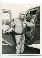 Airwolf-Jan-Michael Vincent and Ernest Borgnine-B&W-Still