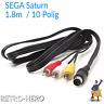 AV Kabel Sega Saturn TV Verbindungskabel Audio Video Videokabel Chinch 10 Pin
