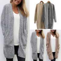 New Women Long Sleeve Loose Casual Sweater Knitted Cardigan Coat Jacket Outwear