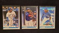 Lot (3) 2019 Topps #700 Variation and #US1 Vladimir Guerrero Jr Rookie cards