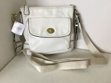 NEW! COACH CAMPBELL IVORY LEATHER POCKET SWINGPACK CROSSBODY SLING BAG $168 SALE