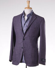 NWT $1875 BELVEST Heather Purple Unstructured Wool Sport Coat 46 R (Eu 56)