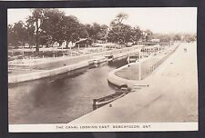 C 1920 Real Photo Postcard The Canal Looking East BOBCAYGEON Ontario Canada