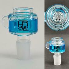 Krave 19mm Freezable Glass Slide Bowl - Honeycomb screen - TEAL BLUE Hookah pipe