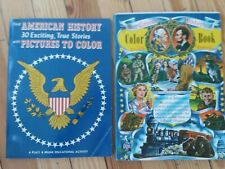 TWO Vintage Americana Coloring Books - Our Country Historical 1958 and 1960