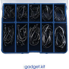 Carbon Steel Fishing Hook Fishhooks 100 Pcs Fishing Hooks with Hole Carp HY10