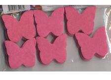 Confettis papillons rose fuchsia / cyclamen en papier de soie 50 grammes