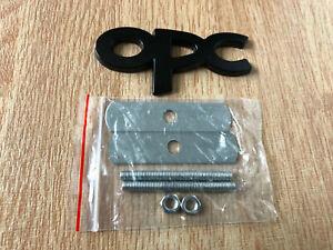1x OPC Badge Metal Front Grill Badge Emblem High Quality Logo Black