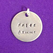 Sorority Greek Delta Gamma Hand Stamped Charm Licensed Ann Peden TriDelta