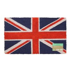 JVL Union Jack British Flag Coir Entrance Door Mat, 40 x 70 cm