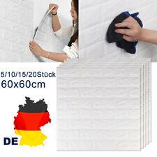 5-20tlg 3D Tapete Wandpaneele Selbstklebend Ziegel Wasserfest Wandaufkleber