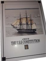 USS CONSTITUTION aka OLD IRONSIDES ship wood piece, wooden relic
