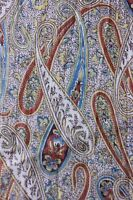 """Antique Printed Paisley Cotton Yardage c1900-1920~Dolls,Quilters~L-74""""X W-34"""""""