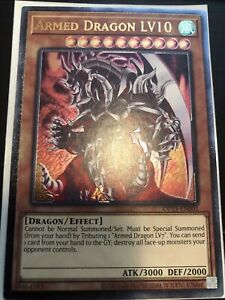 YUGIOH ARMED DRAGON LV10 OP15-EN001 ULTIMATE - minor factory dots on back