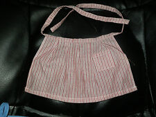 American Girl Kirsten Apron from Meet Outfit Red White Striped Ec!