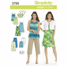 Simplicity Sewing Pattern 3799 Misses 14-26 Easy Dress Tunic Pants Short Jacket