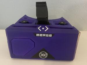 Purple Merge 360 VR and AR Virtual Reality Headset