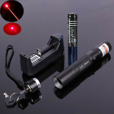 5Mile Red Laser Pointer 1mw 532nm Pen 301 Light Lazer Visible Beam+18650 Battery